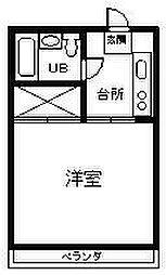 アパート海山[203号室]の間取り