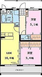 エアフォルクIII[2階]の間取り