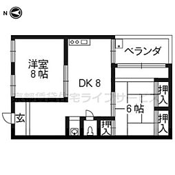 藤ビルII[2F号室]の間取り