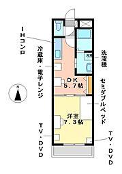 リバパレス鶴舞[9階]の間取り