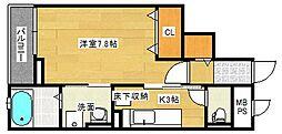 広島県広島市南区青崎2丁目の賃貸マンションの間取り