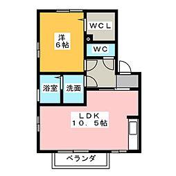 ルガール70[1階]の間取り