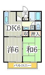 ロイヤルクレスト松ヶ丘[2階]の間取り