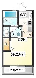Loftia伍番館[2階]の間取り