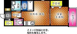 KATAYAMA BLDG  25--[1103号室]の間取り