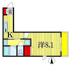 フラッツイーストサイド[1階]の間取り