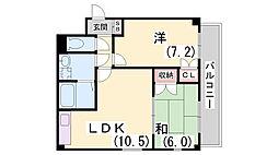 サニーコート鷹取[306号室]の間取り