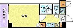 シンシア三田慶大前[302号室]の間取り
