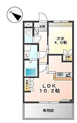 山口県下関市伊倉本町の賃貸アパートの間取り