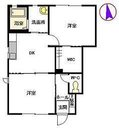 シルフィードKN I[1階]の間取り