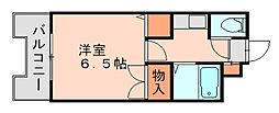 ストリームライン南福岡[5階]の間取り