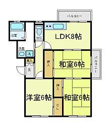ヤマモトマンション[4階]の間取り