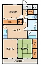 グランペールマンション[103号室]の間取り