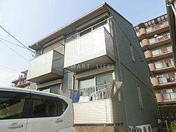 滋賀県大津市真野5丁目の賃貸アパートの外観