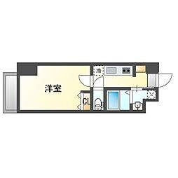 JR鹿児島本線 博多駅 徒歩10分の賃貸マンション 5階1Kの間取り