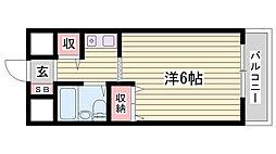 兵庫県明石市相生町1丁目の賃貸マンションの間取り