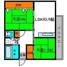 如意谷住宅16号棟[3階]の間取り