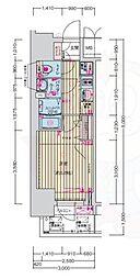 名古屋市営鶴舞線 浅間町駅 徒歩7分の賃貸マンション 10階1Kの間取り
