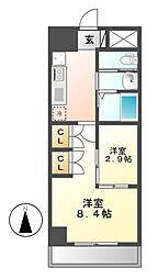 Sun Heart 池下(サンハート)[2階]の間取り