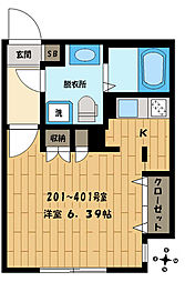 Branche西新宿West[301号室]の間取り