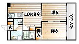 プライムガーデン[1階]の間取り