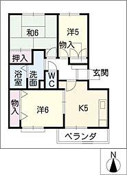 ユートピア正木[1階]の間取り