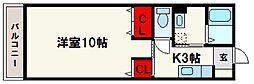 福岡県春日市白水ヶ丘1丁目の賃貸アパートの間取り