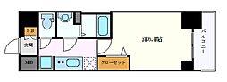 名古屋市営東山線 新栄町駅 徒歩5分の賃貸マンション 6階1Kの間取り