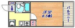 ウエックスマンション[506号室]の間取り