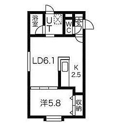 プレサントK[1階]の間取り