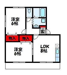 ビッグバレー C棟[2階]の間取り