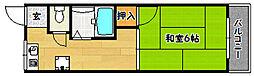 ハイツオーロラ[1階]の間取り
