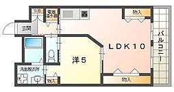 サンリスタ守口 2階1LDKの間取り