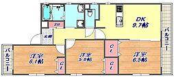 メゾン・ジョワイユ[3階号室]の間取り