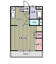宮崎県宮崎市清武町正手の賃貸アパートの間取り
