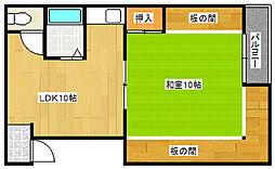 トチタテビル[2階]の間取り