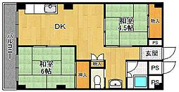 南塚口コーポ[102号室]の間取り