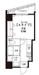 JR山手線 浜松町駅 徒歩8分の賃貸マンション 7階1Kの間取り