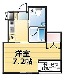 神奈川県海老名市河原口1丁目の賃貸マンションの間取り