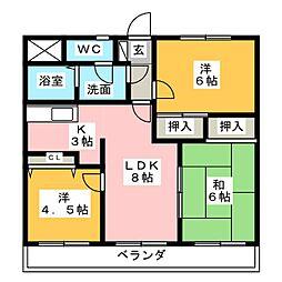 クリアビュー大富士[3階]の間取り