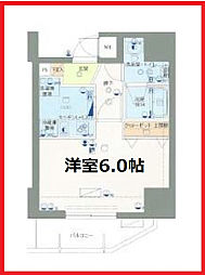 東京都台東区入谷1丁目の賃貸マンションの間取り