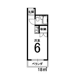 東洋産業ビル[306号室]の間取り