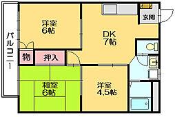 リバーサイド城戸[1階]の間取り