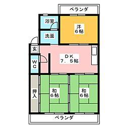 マンション高信[2階]の間取り