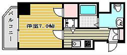ファーストステージ京町堀レジデンス 10階1Kの間取り
