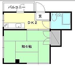 メゾン平和[305 号室号室]の間取り