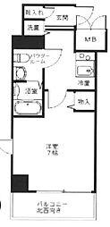 東京都中央区日本橋兜町の賃貸マンションの間取り
