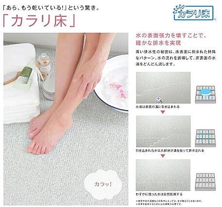 カラリ床。浴室...