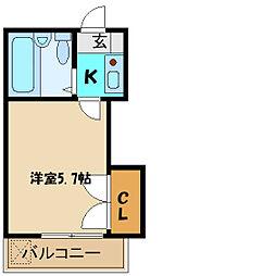 埼玉県さいたま市浦和区針ヶ谷2丁目の賃貸アパートの間取り