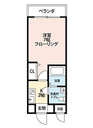 ヒッポエイト[2階]の間取り